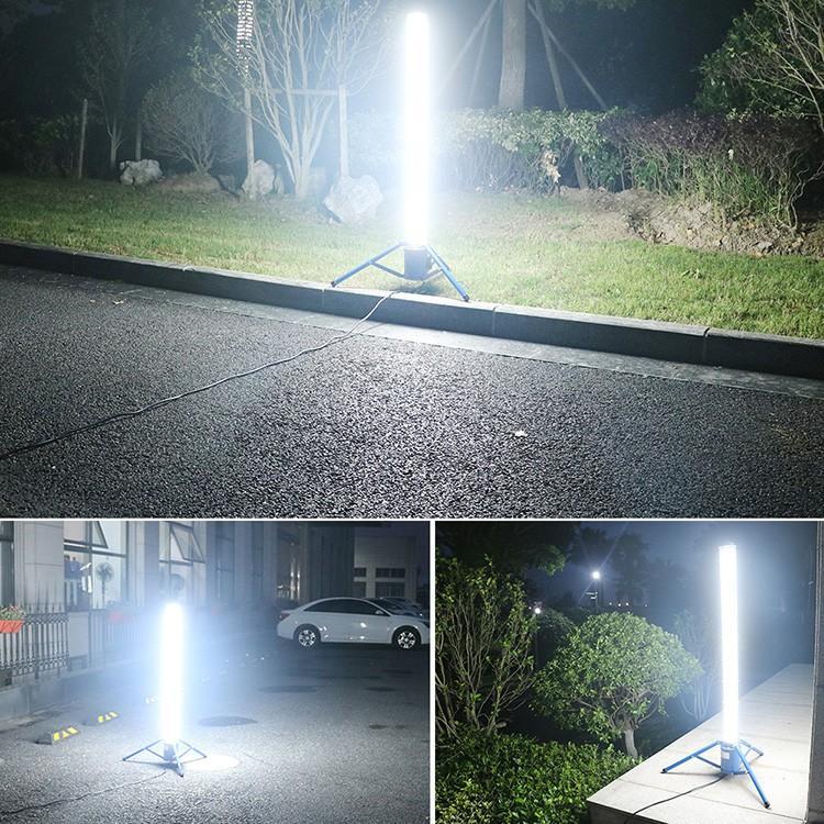 led作業灯 円柱型 60W 投光器 夜間作業 LEDライト 360°発光 6000lm 三脚スタンド式 連結可 一年保証 GD-60W|goodgoods-2|09