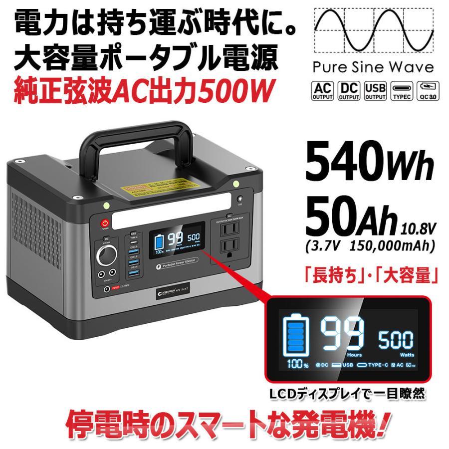ポータブル電源 大容量 ソーラーパネル セット 120W 高変換効率 純正弦波 非常用電源 発電機 停電対策 防災製品等推奨品登録  SET-14520A goodgoods-2 04
