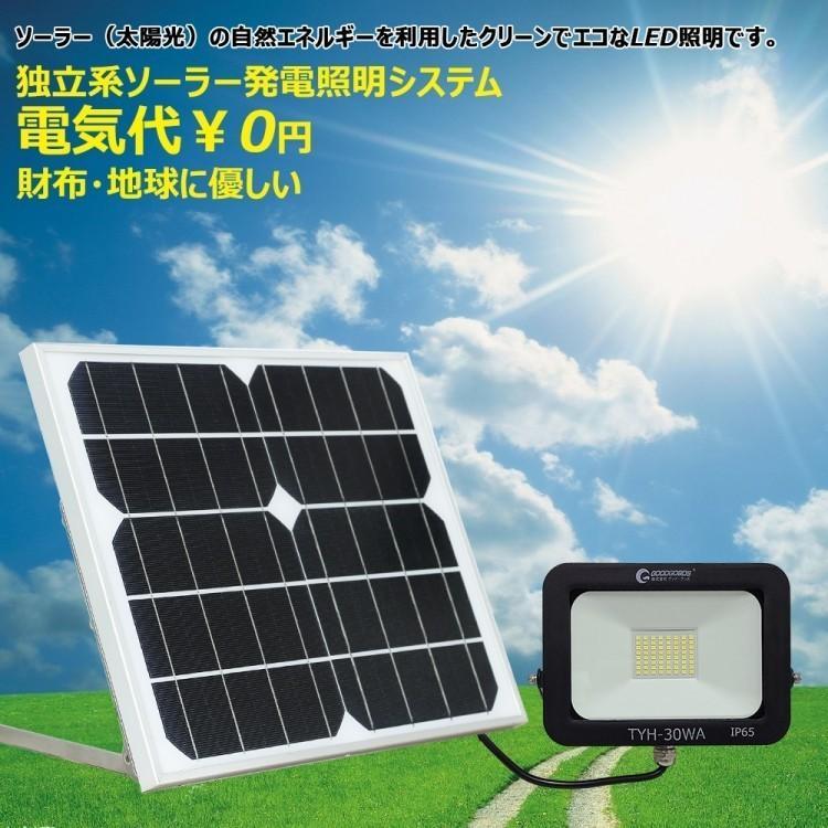 ソーラーライト LED投光器 20W 200W相当 充電式  ソーラー投光器 昼光色 電球色 電池交換式 実用新案登録 防犯灯 防災グッズ TYH-25T goodgoods-2 02