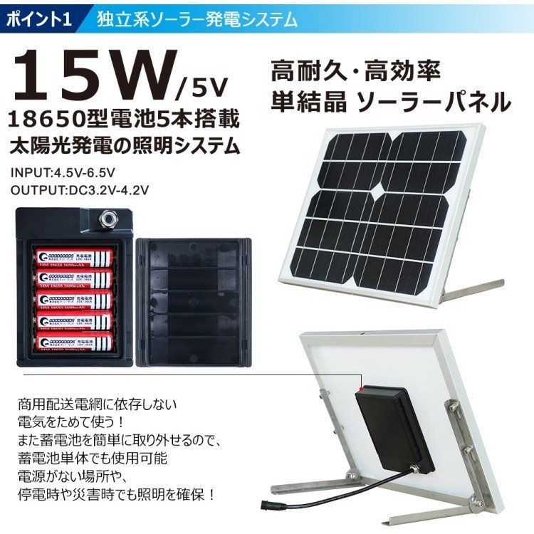 ソーラーライト LED投光器 20W 200W相当 充電式  ソーラー投光器 昼光色 電球色 電池交換式 実用新案登録 防犯灯 防災グッズ TYH-25T goodgoods-2 04