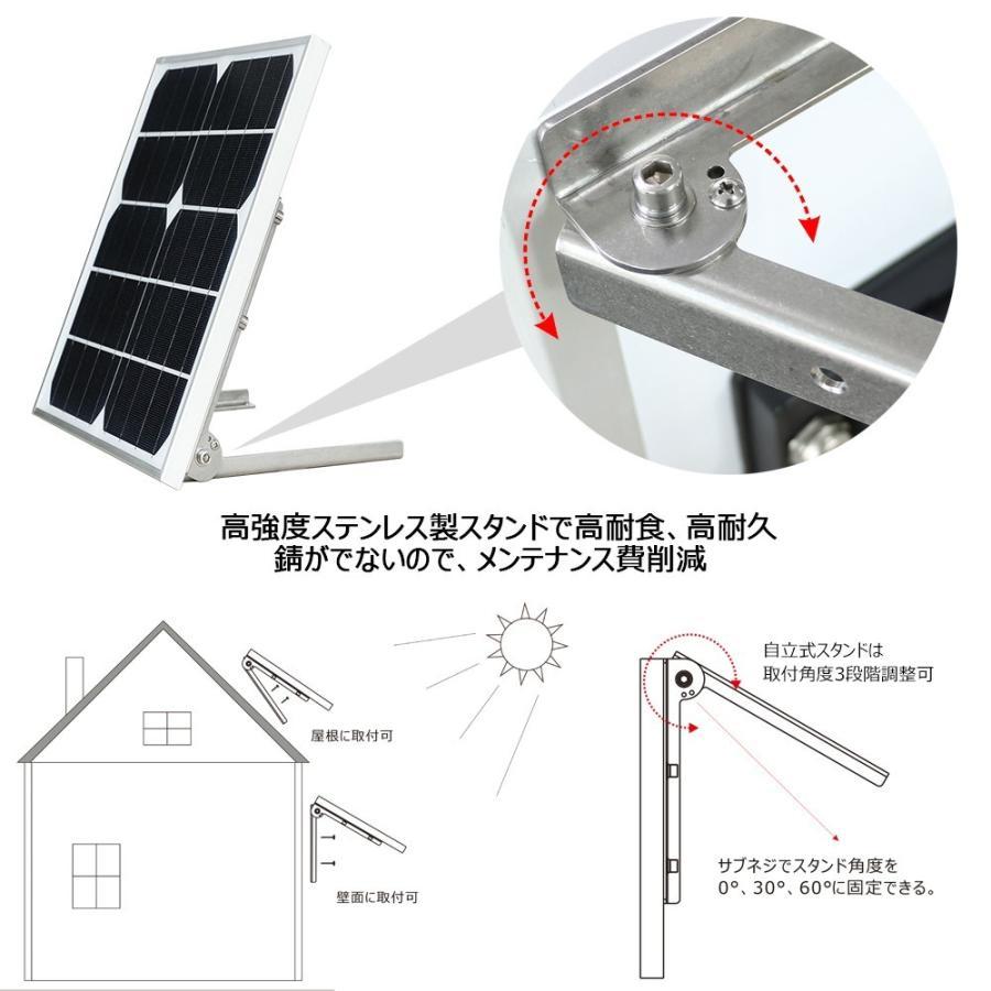 ソーラーライト LED投光器 20W 200W相当 充電式  ソーラー投光器 昼光色 電球色 電池交換式 実用新案登録 防犯灯 防災グッズ TYH-25T goodgoods-2 05
