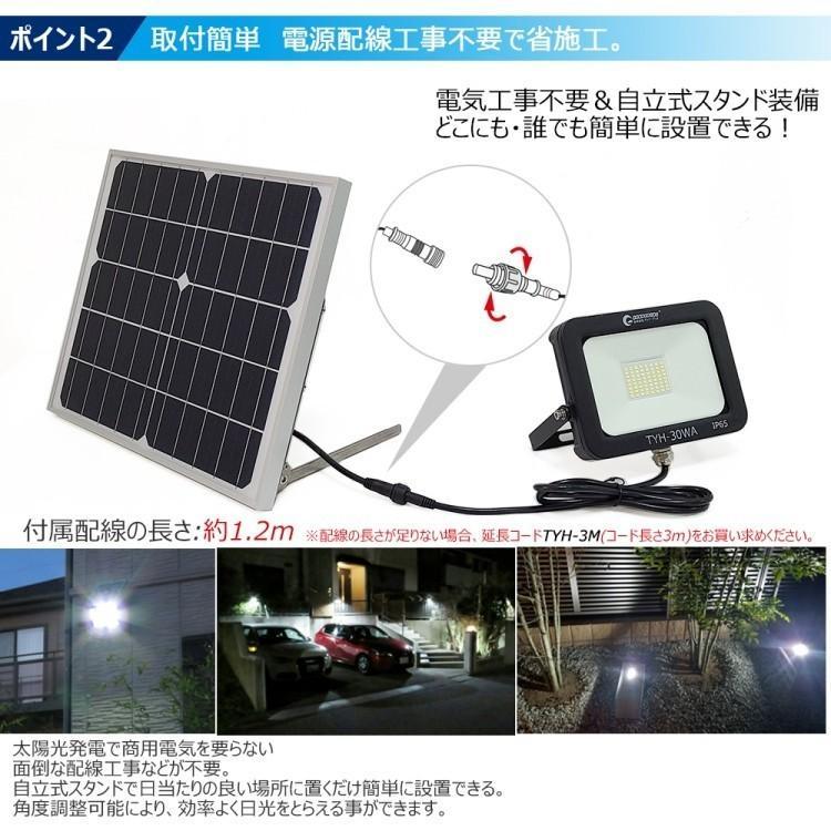 ソーラーライト LED投光器 20W 200W相当 充電式  ソーラー投光器 昼光色 電球色 電池交換式 実用新案登録 防犯灯 防災グッズ TYH-25T goodgoods-2 06