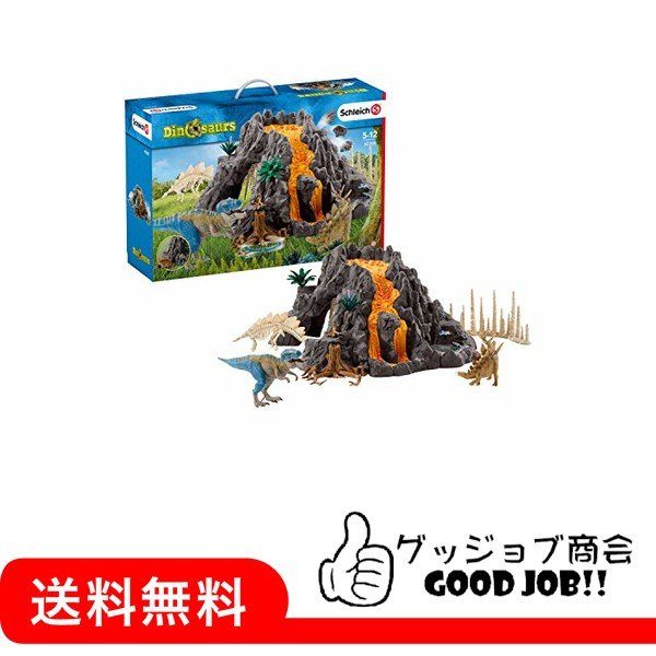 シュライヒ シュライヒ 恐竜 大火山とティラノサウルス恐竜ビッグセット フィギュア 42305