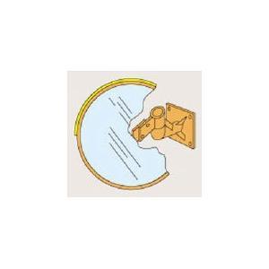 [代引不可] 緑十字 カーブミラー・丸型2面鏡 1000mmΦ 壁面用金具付 ステンレス製 【277200】