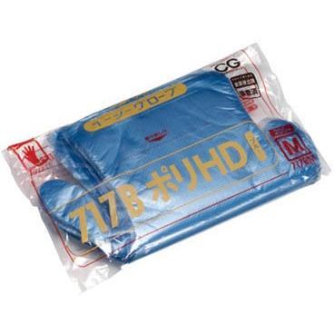 [代引不可] オカモト イージーグローブ717BポリHDブルー M 200枚入 【717BM】 (100袋入り)