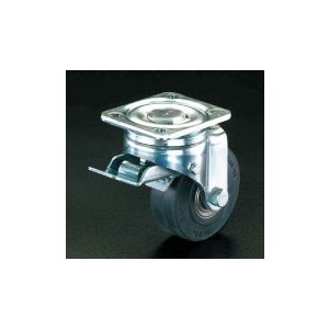 ESCO250mm キャスター(自在金具・前輪ブレーキ付)[EA986HJ-15]