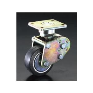 ESCO125mm キャスター(固定金具・スプリング付)[EA986KZ-2]