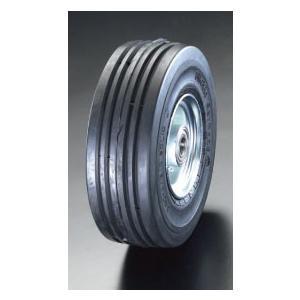 ESCO400x105mm 車輪(エラスティックタイヤ・スチールリム・ベアリング[EA986MM-400]