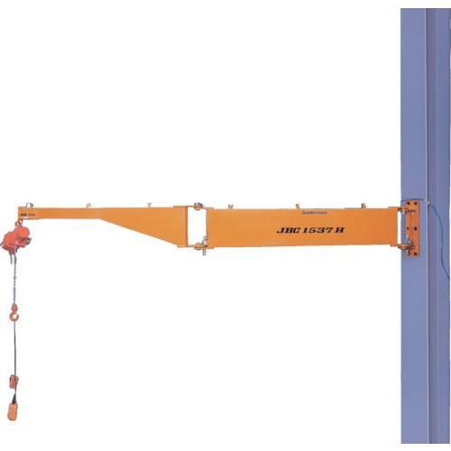 スーパー 二速型電動チェーンブロック付ジブクレーン 柱取付・シンプル型 [JBCT1037H]