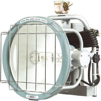 [代引不可] ハタヤ コンパクトメタルハライドライト 400W 電線10m (単管クランプ付) 【MLF410K】