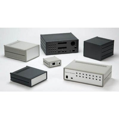 [代引不可] タカチ メタルケース W320×H199×D280 ライトグレー/シルバー 【MS1993228G】
