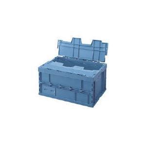 [代引不可] 積水 折りたたみコンテナ OC−75L蓋付 青 【OC75LF】