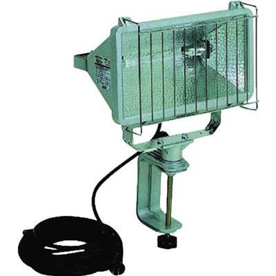 [代引不可] ハタヤ 防雨型ハロゲンライト 1000W 100V電線5m バイス付 【PH1005】
