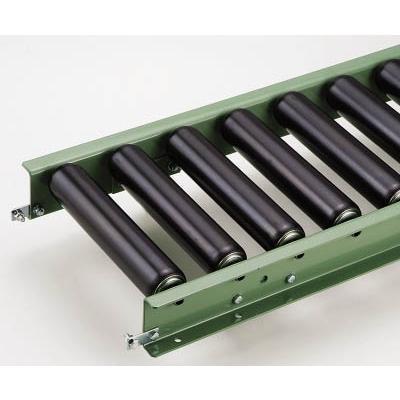 [代引不可] MAKI スチール製ローラコンベヤR6023N型2000LX800WX100P 【R6032NX2000L800W100P】