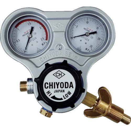 千代田 酸素用調整器スタウト(関西式)乾式安全器内蔵型 [SROAW]