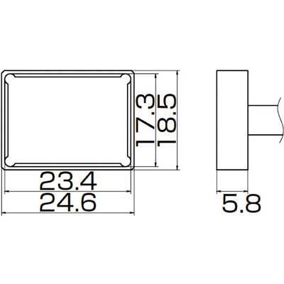 [代引不可] 白光 こて先 クワッド 23.4mmX17.3mm 【T121205】