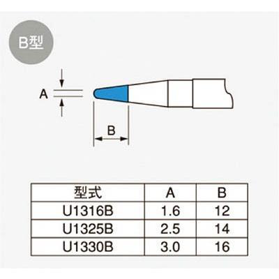 [代引不可] ユニコン 108XL用コテ先 【U1325B】 (5本入り)