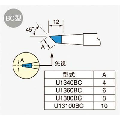 [代引不可] ユニコン 108XL用コテ先 【U1360BC】 (5本入り)