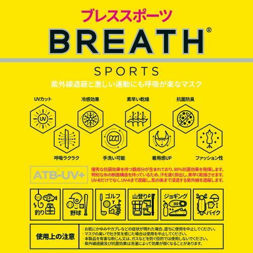 メーカー直営店 スポーツマスク BREATH SPORTS MASK ブレス スポーツマスク 1袋(1枚入り)ATB-UV+使用 夏用マスク ブレスマスク goodmall-japan 05