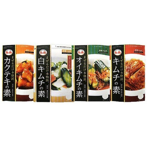 ★ネコポス便・全国送料無料★*韓国食品*切ってまぜるだけ!花菜(ファーチェ)4種類セット・キムチの素・オイキムチの素・カクテキの素・白キムチの素/ goodmall-japan