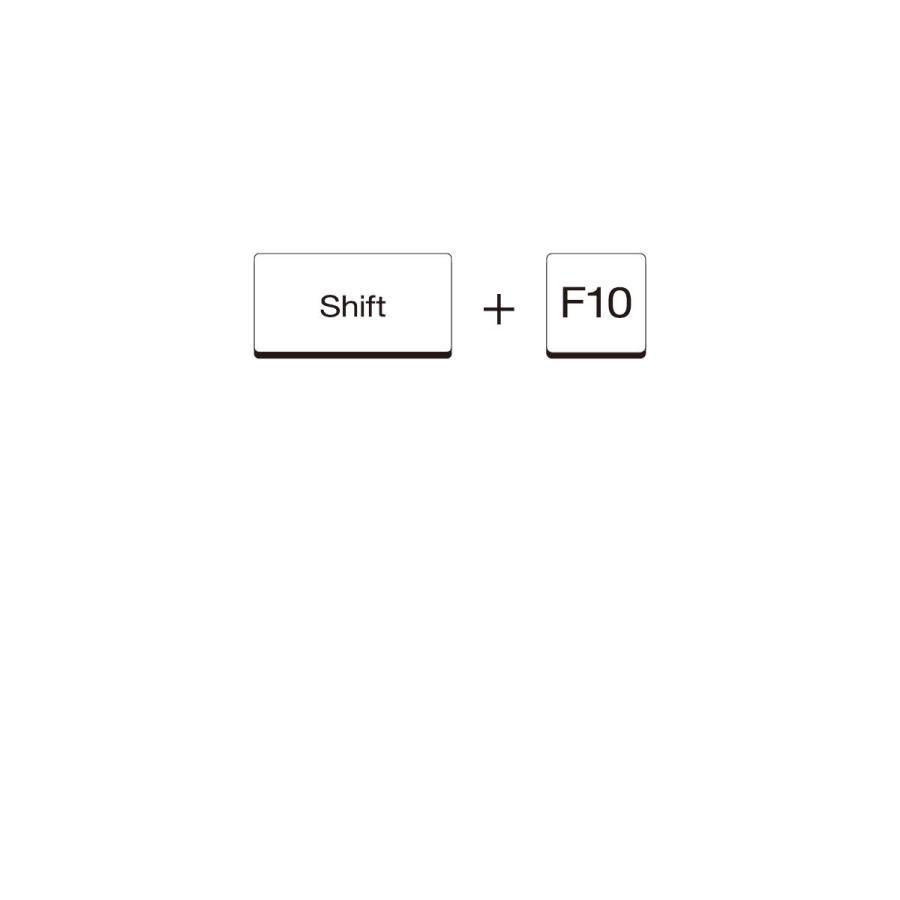 Tシャツ Shift+F10 ショートカット|goods-pro|02