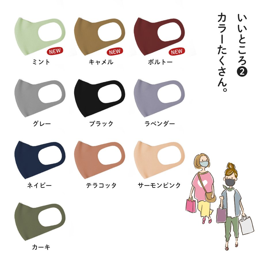 やさし仕立てマスク ちいさいさん S M 秋冬用 2枚セット|goods-pro|04