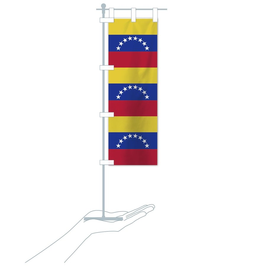 のぼり旗 ベネズエラ・ボリバル共和国国旗|goods-pro|19