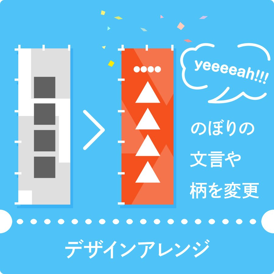 のぼり デザインアレンジ 低価格で デザイン性 のある オリジナルのぼり goods-pro
