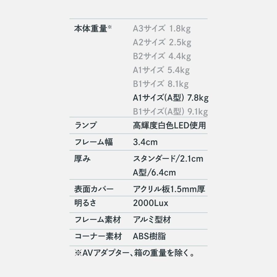 A型パネル らくらくLEDライトパネル A1サイズ|goods-pro|07