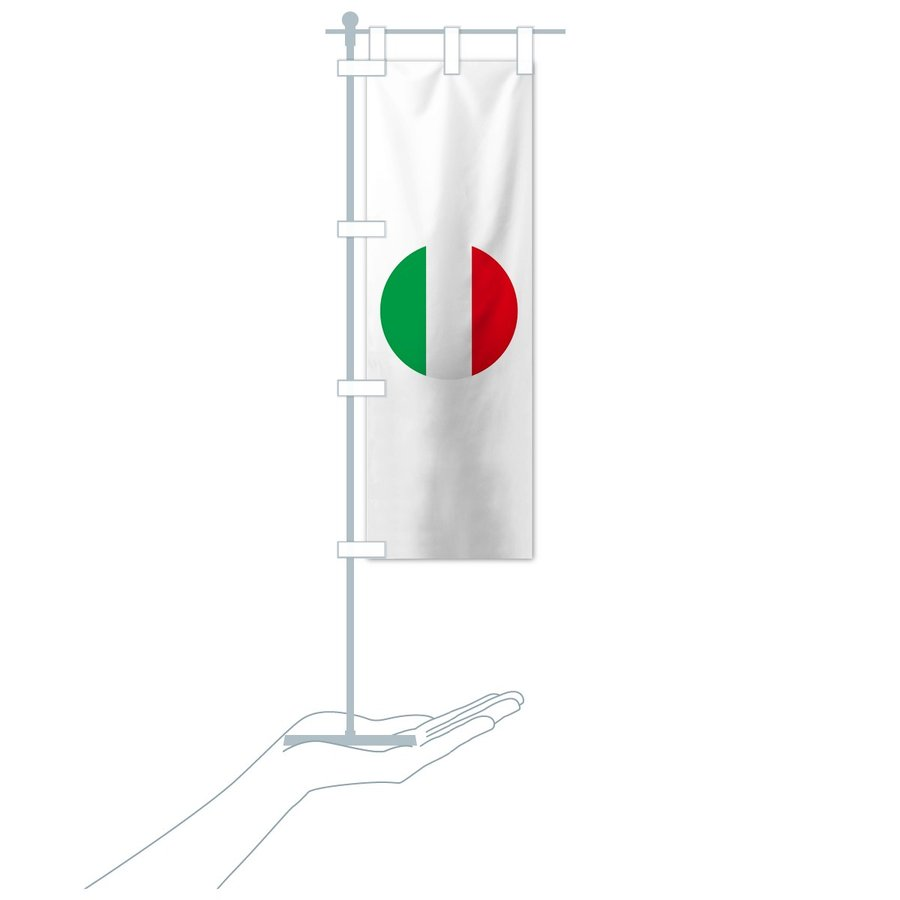 のぼり旗 イタリア共和国国旗|goods-pro|18