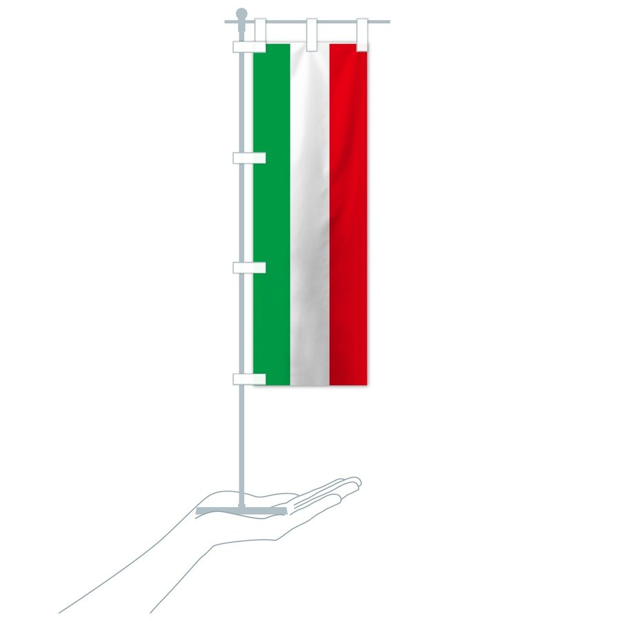 のぼり旗 イタリア共和国国旗|goods-pro|19
