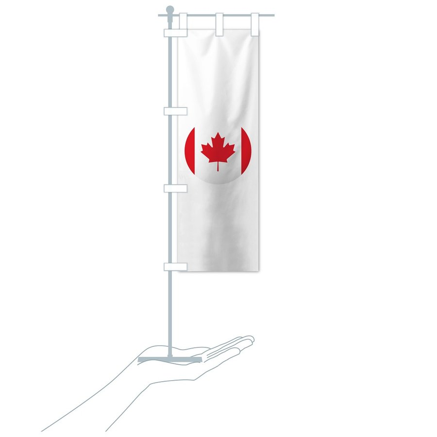 のぼり旗 カナダ国旗 goods-pro 20