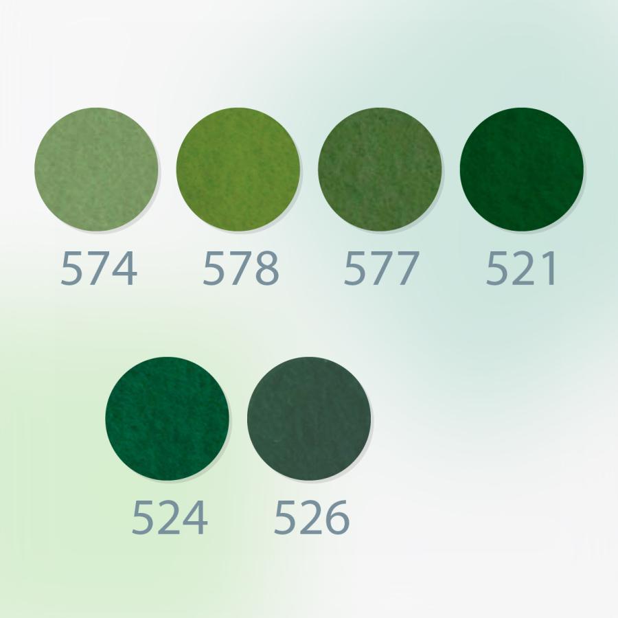 ノックス カラーフェルト生地 緑色系 日本製|goods-pro|02