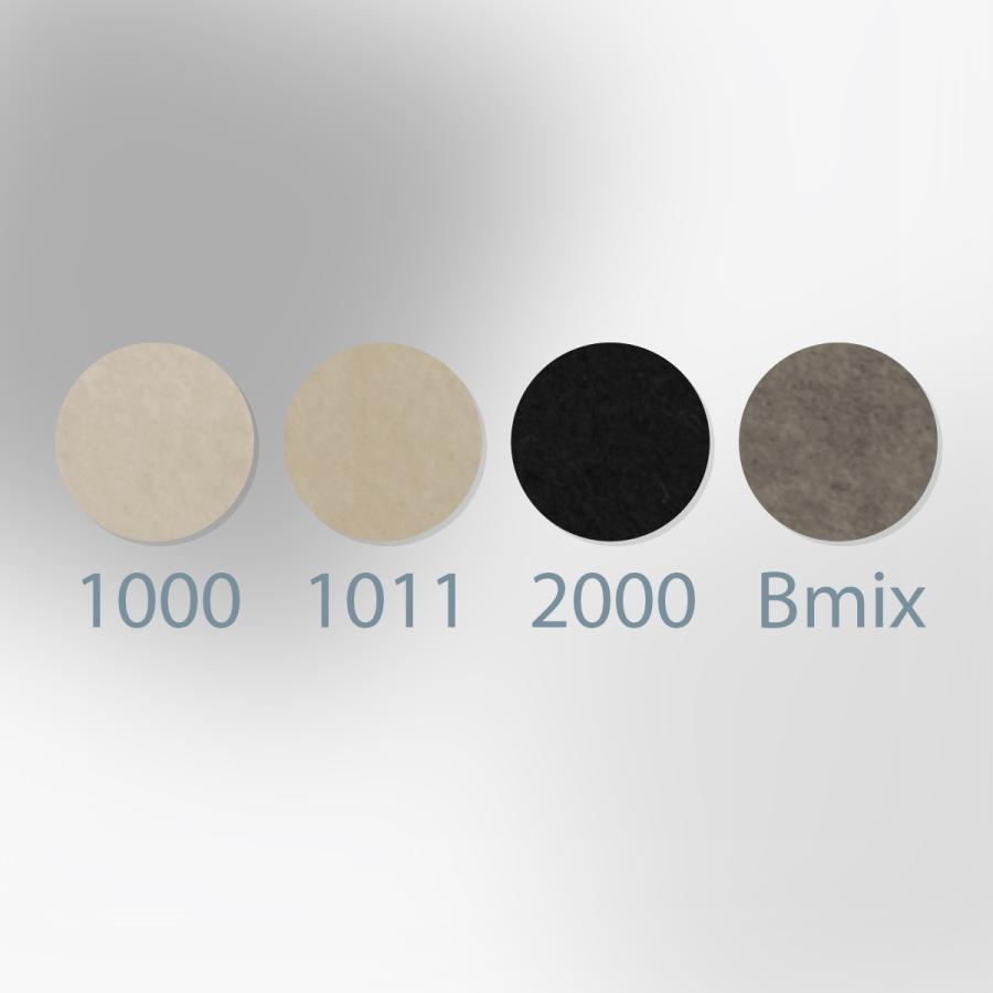 ノックス カラーフェルト生地 白黒グレー 日本製 goods-pro 02