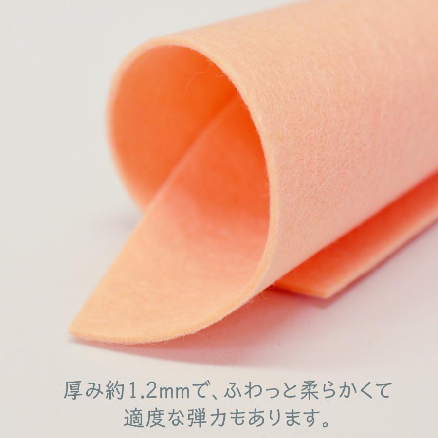ノックス カラーフェルト生地 ベージュ色系 日本製|goods-pro|04