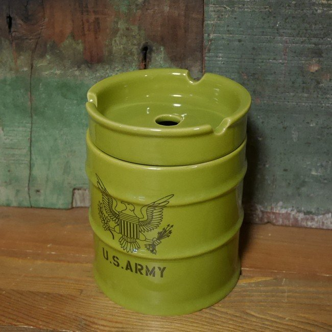 ドラム缶灰皿 アメリカン 卓上灰皿 陶器製灰皿 goodsfarm 10