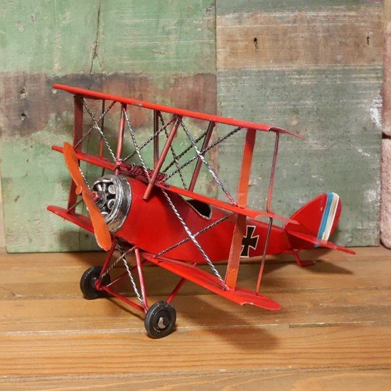 複葉機 インテリア 飛行機 triplane 三葉機 フォッカー ブリキの ...