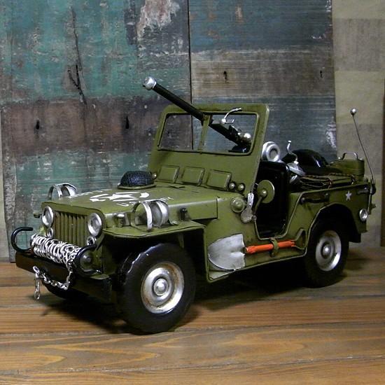 ブリキのおもちゃ ジープ アーミー 自動車