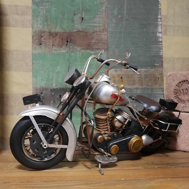 ヴィンテージオールドバイク ブリキのおもちゃ オートバイ インテリア
