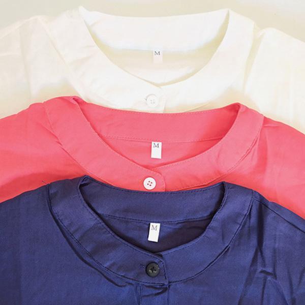 ワンピース レディース ロングワンピース ロングシャツ ゆったり カバー ブラウス きれいめ 上品 30代 40代メール便のみ送料無料2 5月1日から10日入荷予定|goodstown|14