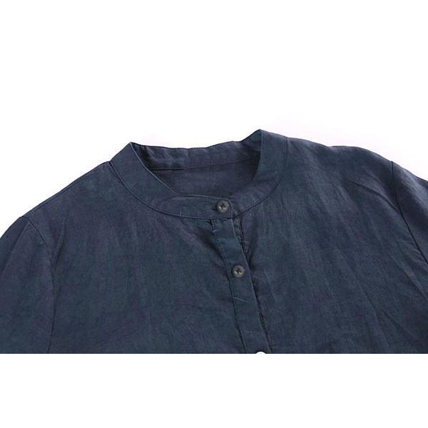 ワンピース レディース ロングワンピース ロングシャツ ゆったり カバー ブラウス きれいめ 上品 30代 40代メール便のみ送料無料2 5月1日から10日入荷予定|goodstown|08