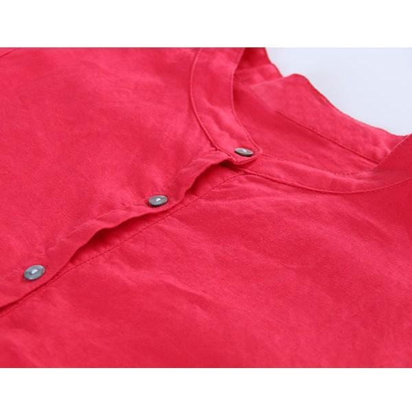 ワンピース レディース ロングワンピース ロングシャツ ゆったり カバー ブラウス きれいめ 上品 30代 40代メール便のみ送料無料2 5月1日から10日入荷予定|goodstown|09