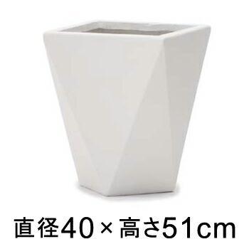 植木鉢 おしゃれ 大型 ポリゴ デルタ 40cm ホワイト メーカー直送 同梱不可 代引不可 返品不可 プロフェッショナル