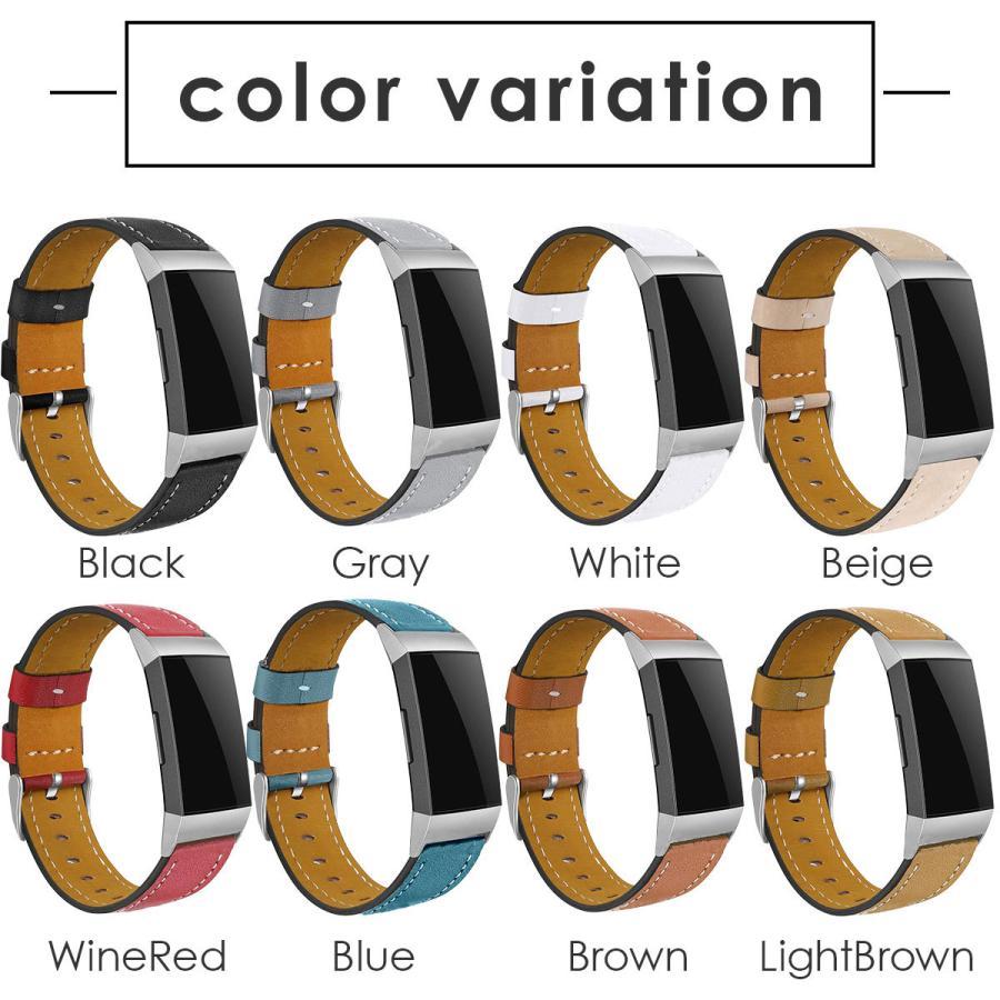 Fitbit Charge3 Charge4 バンド 交換 革 フィットビット チャージ 3 4 対応 ベルト レザー goovice 14