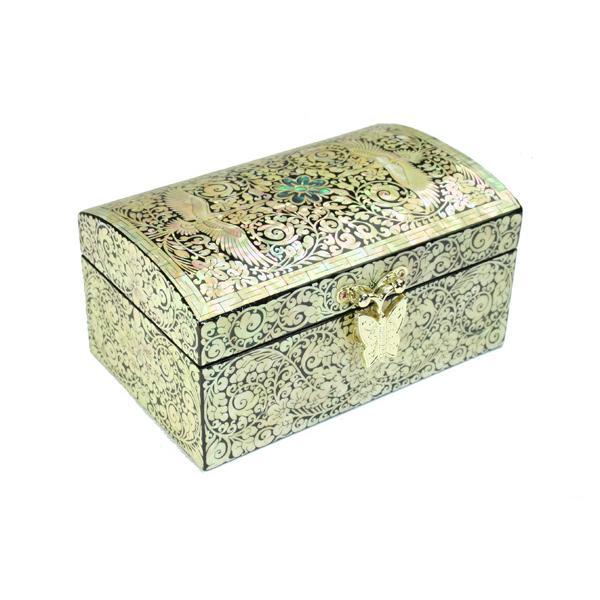 螺鈿 らでん 宝石箱 伝統工芸美術品 ジュエリーケース J7