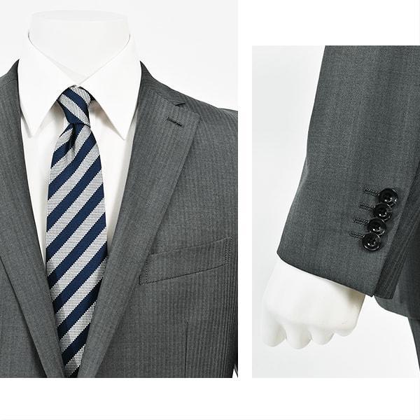 dc フィッチェ スーツ メンズ スリム 秋冬春 30代/40代/50代   グレー|gorgons|03
