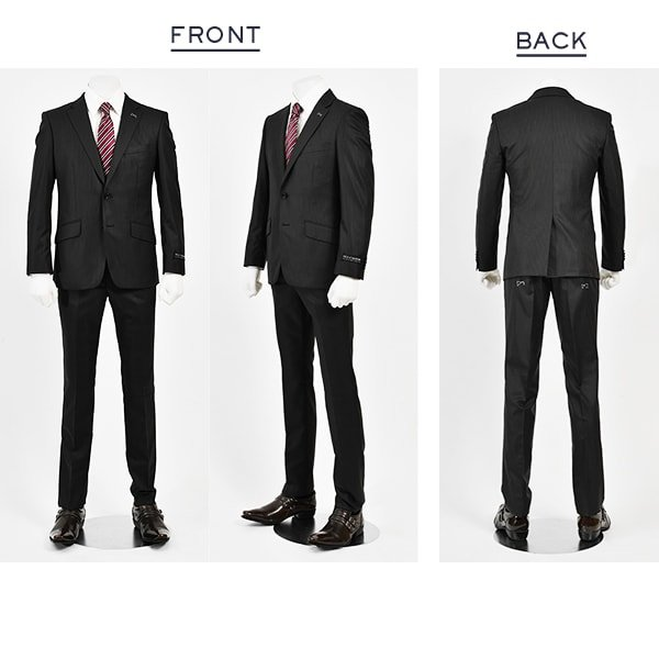 dc フィッチェ スーツ メンズ スリム 春夏 30代/40代/50代  A体 A4 ブラック|gorgons|02