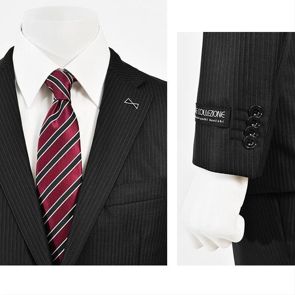 dc フィッチェ スーツ メンズ スリム 春夏 30代/40代/50代  A体 A4 ブラック|gorgons|03