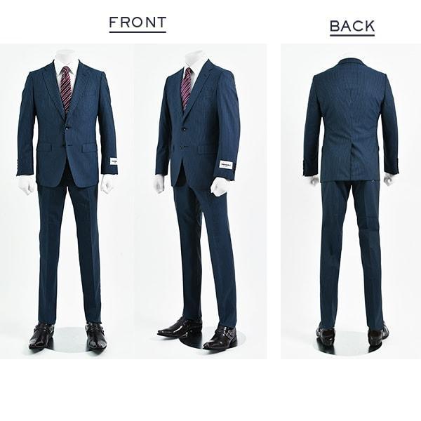 dc レノマ スーツ メンズ スリム 春夏 30代/40代/50代  A体 A8 ネイビー|gorgons|02