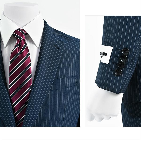 dc レノマ スーツ メンズ スリム 春夏 30代/40代/50代  A体 A8 ネイビー|gorgons|03